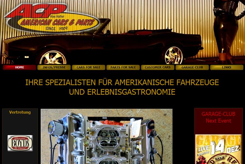 Acp american cars pars dans la rubrique garages ch for Garage auto electronique