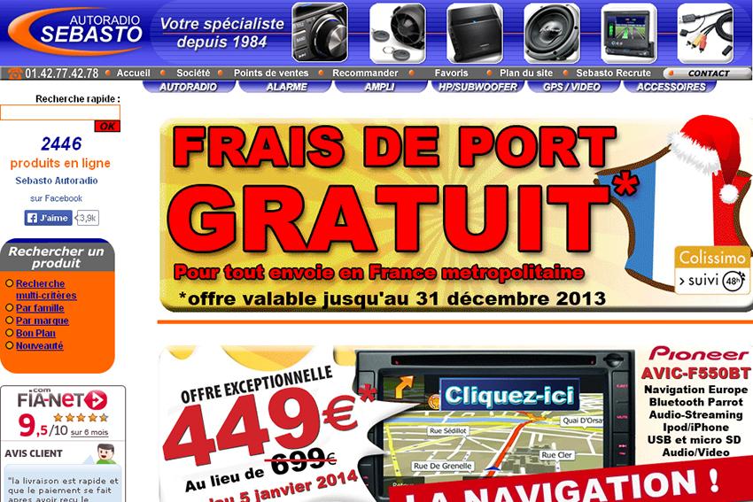 Sebasto autoradio sp cialiste parisien dans la rubrique autoradios multim d - Site de vente par correspondance ...