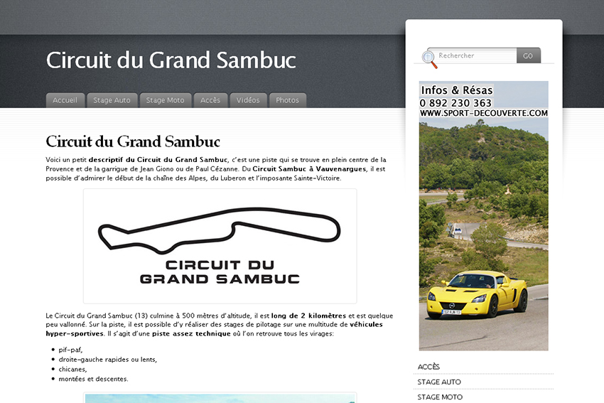 circuit automobile du domaine du grand sambuc dans la rubrique circuits annuaire lectronique. Black Bedroom Furniture Sets. Home Design Ideas