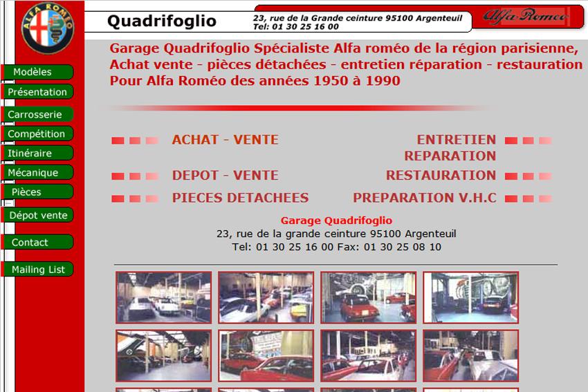 Garage alfa quadrifoglio dans la rubrique restaurateurs for Garage alfa romeo paris