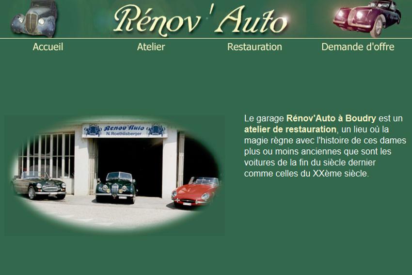 R nov 39 auto restauration de voitures dans la rubrique for Garage renov auto