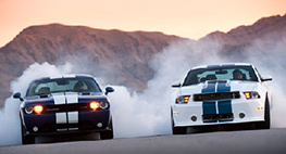 Dodge Challenger STR8 vs. Shelby GT350